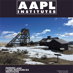 2016 Mining and Land Resources Institute